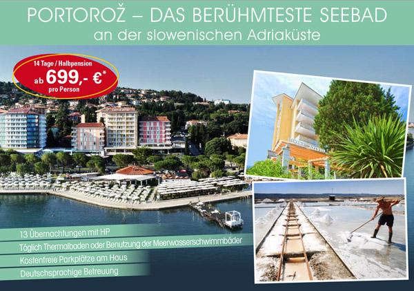 Portoroz - das berühmte Seebad in Slowenien